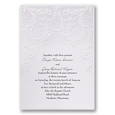 Shaded Grey Wedding Invitation