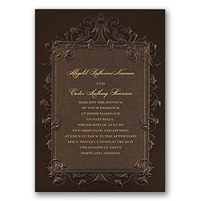 Rich Elegance Wedding Invitation
