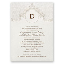 Sophisticated Monogram Wedding Invitation