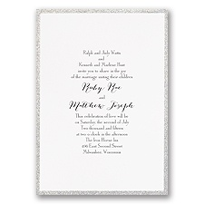 Framed in Glitter Silver Wedding Invitation