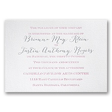 Playful Presentation White Featherpress Wedding Invitation