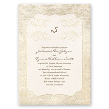 Burlap Sensation Wedding Invitation