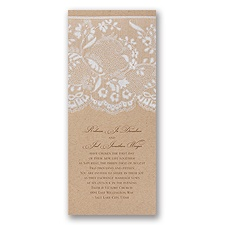 Naturally Romantic Vintage Wedding Invitation