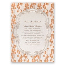 Autumn Vintage Wedding Invitation
