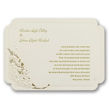 Lily of the Valley Laser Cut Wedding Invitation