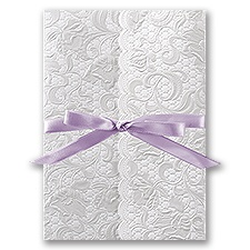 Pearl Vines Thermography Wedding Invitation