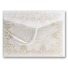 Simply Radiant Laser Cut Wedding Invitation