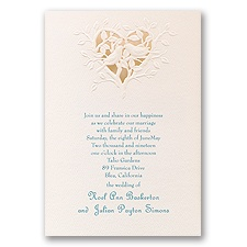 Soft Kiss - Laser Cut Invitation