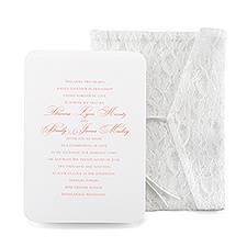 Lace Pocket Vintage Wedding Invitation
