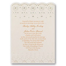Dainty Daisies - Laser Cut Invitation