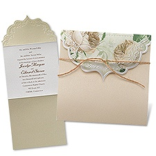 Garden Crest Wedding Invitation