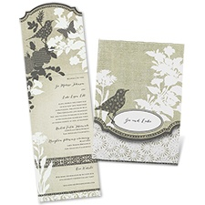 Patchwork Garden Vintage Wedding Invitation