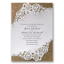 Lacy Dream Vintage Wedding Invitation