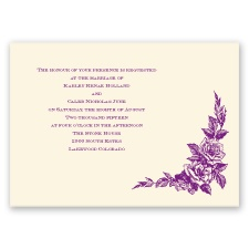 Antique Rose - Ecru - Invitation