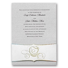 Disney Fairy Tale Carriage Wedding Invitation