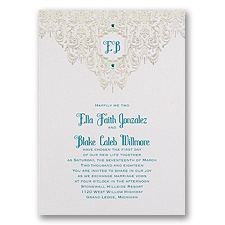 Disney Bohemian Chic Wedding Invitation Jasmine