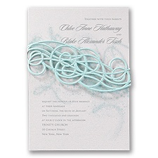 Disney Icy Swirls Wedding Invitation Elsa
