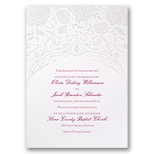Disney Dreamy Roses Wedding Invitation Aurora