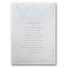 Disney Classic Charm Wedding Invitation Cinderella