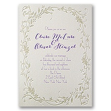 Disney Flowing Vines Wedding Invitation Rapunzel