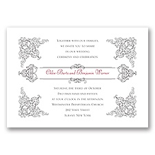 Vintage Vision White Wedding Invitation