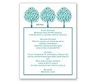 Tree of Love - Menu Card
