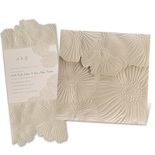 Romance Blooms Laser Cut Wedding Invitation