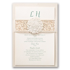 Rose Reverie Laser Cut Vintage Wedding Invitation
