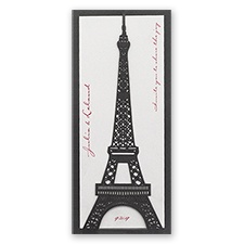 Eiffel Tower Laser Cut Wedding Invitation