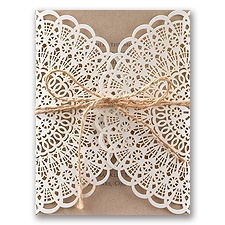 Beaming Beauty Kraft Laser Cut Wedding Invitation