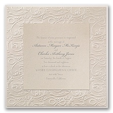 Vintage Filigree Vintage Wedding Invitation