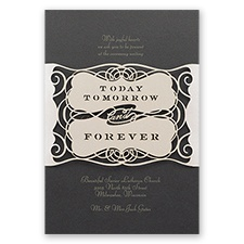 Forever Beautiful Laser Cut Wedding Invitation