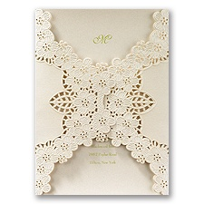 Abundant Beauty Laser Cut Wedding Invitation