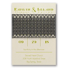 Simply Striking Laser Cut Wedding Invitation