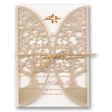 In the Grove Laser Cut Rustic Wedding Invitation