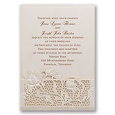 Garden Gate Laser Cut Wedding Invitation