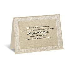 Framed in Luxury - Reception Card