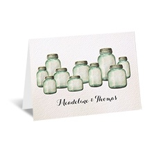 Country Canning Jar - Thank You Card
