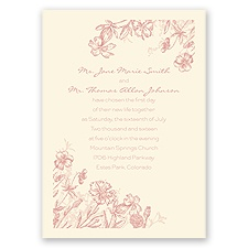 Rustic Wildflowers - Ecru - Invitation