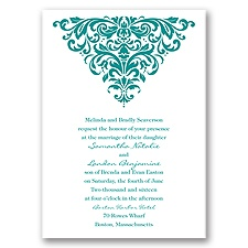 Dramatic Damask Wedding Invitation