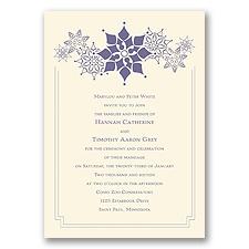 Snowflake Fantasy - Ecru - Invitation