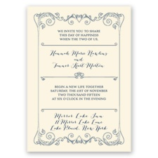 Sweet Sentiment - Ecru - Invitation