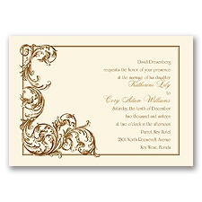 Fine Filigree - Ecru - Invitation