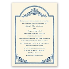Vintage Victorian Ecru Wedding Invitation
