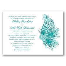 Fancy Peacock Wedding Invitation