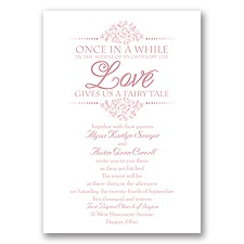 Fairy Tale Love Wedding Invitation