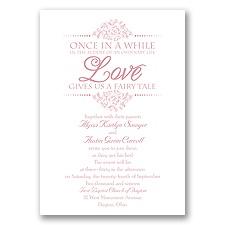 Fairy Tale Love Wedding Invitation