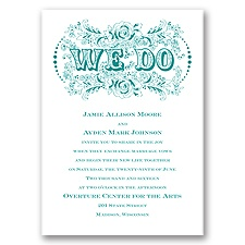 Vintage Vows Wedding Invitation
