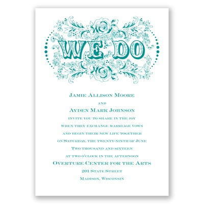 Vintage vows wedding invitation typographic at for Cheap thermography wedding invitations