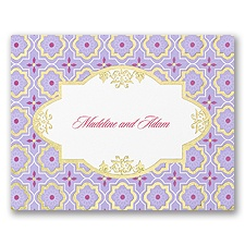 Exotic Romance - Note Card and Envelope - Jasmine